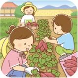 『【クリップアート】芋ほりをするこどもたちのイラスト』の画像