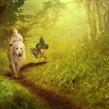 『命がけで赤ちゃんを守りぬいた愛犬』の画像