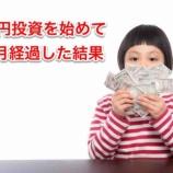 『3000円投資を始めて11ヶ月経過した結果!』の画像
