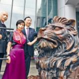 『【香港最新情報】「HSBCのライオン像が修復完了」』の画像