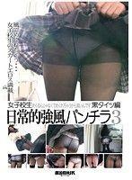 女子校生日常的強風パンチラ 3 黒タイツ編