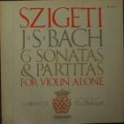 『ヨゼフ・シゲティ バッハ『無伴奏バイオリン・ソナタとパルティータ』』の画像