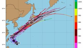 【悲報】猛烈な勢力の台風24号チャーミーが日本列島を直撃するのが確定してしまう
