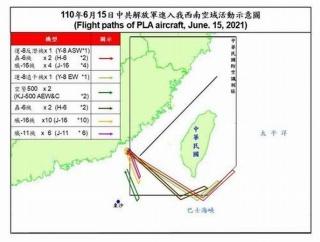 台湾の防空識別圏に中国軍機(J-16戦闘機やH-6爆撃機など)延べ28機が進入…1日では最多!
