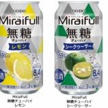 『【新商品】 おとなの適正飲酒とこどもの未来を応援「MiraiFull 無糖チューハイ レモン」「同 シークヮ―サー」』の画像