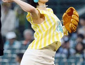 山本彩の始球式の画像wwwwwwwwwww
