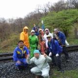 2008.5.10(土)清里モスバック主催山菜採りと山菜料理尽くしと釣りと温泉、鯉のぼり(定番の写真