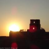 『ウズベキスタン旅行記9 ヒヴァのクフナ・アルク城塞から見た夕日(サンセット)が最高だった』の画像