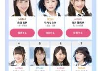 「48G写真集選抜イベント」は本日13:59まで!行天優莉奈は現在3位!
