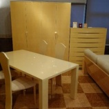 『松創のオリジナルシカモアミガキ仕様のダイニングテーブル』の画像