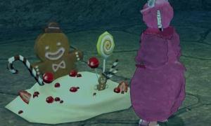 ピエロのような気味の悪さを感じるチョコクッキーマン