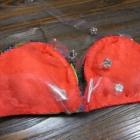 『ベリーダンス衣装 透明ビニールのアンダーベルト&肩紐、作り変え出来ます!』の画像