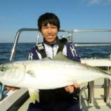 『10月 15日 釣果 ジギング ワラサ~🎶 初ジギ おめでとうございます!!』の画像