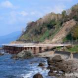 『越前海岸305号線から迂回路桟橋を抜けて』の画像