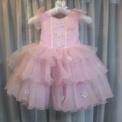 リボン付き子供ドレス ピンク(5~6歳)SOLD-OUT
