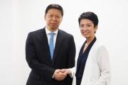 民進党「蓮舫代表が中国共産党・中央対外連絡部長と会談しました」