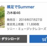 『【乃木坂46】ハルジオン越えくるか!?『裸足でSummer』オリコン5週目は11,698枚 累計797,679枚を記録!!』の画像