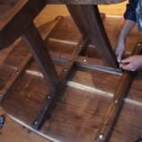 『テーブル納品・看板立て』の画像