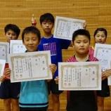 『令和元年度全日本卓球選手権(カデットの部)宮城県予選 結果【 仙台ジュニア 】』の画像