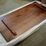 『飛騨高山のSWINGよりブラックウォールナット材の厚さ50ミリのダイニングテーブルが入荷』の画像