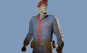 パワーパトロールの作業服と赤いベレー帽