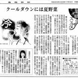 『クールダウンには夏野菜|産経新聞連載「薬膳のススメ」(26)』の画像