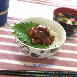 翌日のお刺身にいいかも♪中華風 鯵のたたき丼