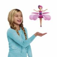 手のひらの上で飛ぶ人形