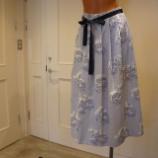 『DUAL VIEW(デュアルヴュー)フラワーモチーフ&ストライプフレアスカート』の画像