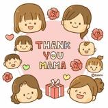 『【クリップアート】おかあさんありがとう・母の日のイラストカード』の画像