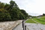 台風11号の影響で『天の川』がどえらい増水してたので行ってみた!@砂防堤防【その②】