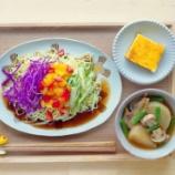 『カラフルサラダラーメンとかぼちゃプリンのお昼ご飯』の画像