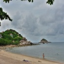 タオ島~再びモーターバイクにて、シャークベイ(Shark Bay)からシャークアイランド(Shark Island)を眺める!!