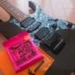 コメダでモーニング食べてギターの弦を買いに行って、弦交換しよ...