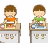 『【クリップアート】こどものイラスト(手の消毒・非接触型体温計・席を離してお弁当を食べる・マスクをしてあそぶ)』の画像