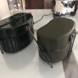 『飯ごう2型と3合飯盒の比較』の画像