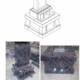 『バハマブルー 洋風墓石 洋墓』の画像