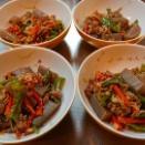 豚肉とピーマン 蒟蒻ときのこの中華炒め