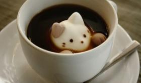【食】   これはカワイイ!!  日本で  3Dラテアートの 猫のマシュマロ が登場。 海外の反応
