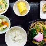 『今日の桜町昼食(山菜そば)』の画像