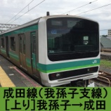 『成田線 車窓[我孫子支線・上り]我孫子→成田』の画像