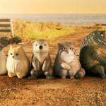 座って「まちぼうけ」している動物たちのフィギュア「まちぼうけ3」がガチャに登場!