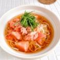 シャリシャリひんやり♩氷トマトとツナのぶっかけ素麺【クリンスイ連載】
