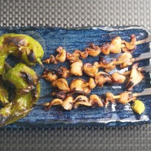 コリコリの食感♪えんぺらの串焼き