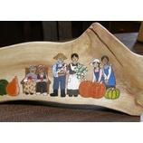 『家族の丸太絵』の画像
