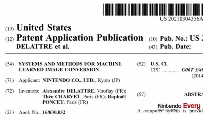 任天堂、AIの機械学習で高解像度化できる特許を出願