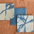 手織り藍染めコースター