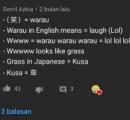 【悲報】「草」の語源、海外掲示板で熱く語られてしまう