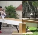 【動画】単身赴任の父親、息子のためにハイテクシーソーを開発