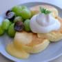 【東京 自由が丘 】 FLIPPER'S フリッパーズ 自由ヶ丘店 奇跡のパンケーキ「シャインマスカットとレモンクリーム 」